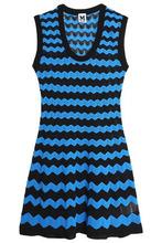 M Missoni | M Missoni Woman Cotton-blend Crochet-knit Mini Dress Blue Size 42 | Clouty
