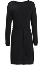 A.P.C. | A.p.c. Woman Chantal Belted Cotton Mini Dress Black Size M | Clouty