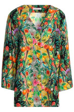 Matthew Williamson | Matthew Williamson Woman Printed Silk Crepe De Chine Shirt Multicolor Size 8 | Clouty