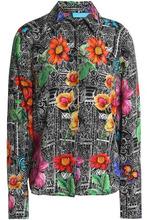 Matthew Williamson | Matthew Williamson Woman Printed Silk Crepe De Chine Shirt Black Size 8 | Clouty