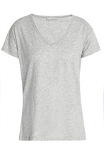 Vince | Vince. Woman Slub Pima Cotton-jersey T-shirt Gray Size M | Clouty