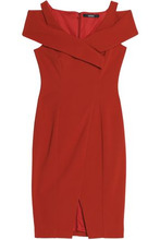 Badgley Mischka   Badgley Mischka Woman Sequin-embellished Lace Dress Crimson Size 10   Clouty