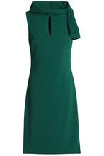 Badgley Mischka   Badgley Mischka Woman Knotted Crepe Dress Emerald Size 14   Clouty