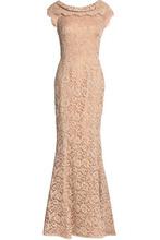 Dolce & Gabbana | Dolce & Gabbana Woman Cotton-blend Corded Lace Gown Neutral Size 38 | Clouty