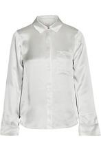 Cinq A Sept | Cinq A Sept Woman Korlan Lace-trimmed Silk-satin Shirt Ivory Size XL | Clouty