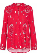 L'Agence | L'agence Woman Printed Twill Shirt Red Size S | Clouty
