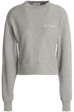 Re/done By Levi's | Re/done By Levi's Woman Embroidered French Cotton-blend Terry Sweatshirt Gray Size M | Clouty