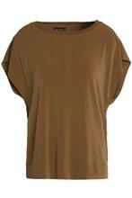By Malene Birger | By Malene Birger Woman Draped Cutout Crepe Shirt Brown Size XS | Clouty