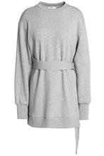 Goen.J   Goen.j Woman Belted French Cotton-terry Sweatshirt Light Gray Size S   Clouty