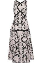 Roland Mouret   Roland Mouret Woman Fil Coupe Cotton And Silk-blend Midi Dress Blush Size 10   Clouty