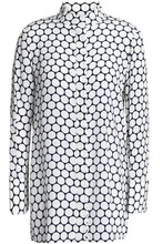 Diane Von Furstenberg | Diane Von Furstenberg Woman Printed Silk Crepe De Chine Shirt White Size 8 | Clouty