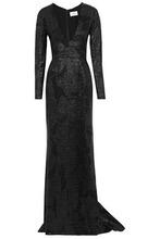 J. Mendel | J.mendel Woman Silk-jacquard Gown Black Size 4 | Clouty