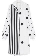 Monse | Monse Woman Oversized Printed Silk-blend Shirt White Size 4 | Clouty