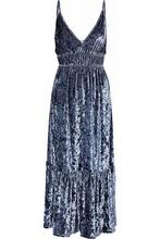 Rebecca Minkoff   Rebecca Minkoff Woman Mazy Crushed-velvet Midi Dress Storm Blue Size XS   Clouty