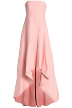 Halston Heritage | Halston Heritage Woman Strapless Cotton And Silk-blend Gown Baby Pink Size 0 | Clouty