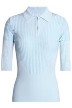 Maison Margiela | Maison Margiela Woman Ribbed-knit Polo Shirt Mint Size L | Clouty