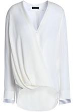 RAG & BONE | Rag & Bone Woman Wrap-effect Draped Silk Blouse White Size S | Clouty