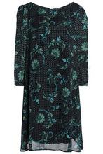 Claudie Pierlot   Claudie Pierlot Woman Printed Georgette Mini Dress Midnight Blue Size 40   Clouty