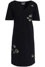 Boutique Moschino | Boutique Moschino Woman Embroidered Crepe Mini Dress Black Size 40 | Clouty