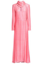 NINA RICCI | Nina Ricci Woman Metallic Fil Coupe Satin Gown Bright Pink Size 38 | Clouty