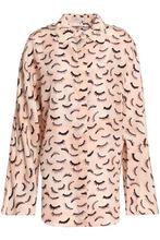 NINA RICCI | Nina Ricci Woman Printed Silk Crepe De Chine Shirt Blush Size 40 | Clouty