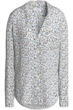 Equipment   Equipment Woman Keira Printed Washed-silk Shirt Multicolor Size M   Clouty