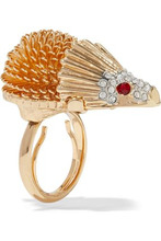 Kenneth Jay Lane | Kenneth Jay Lane Woman Gold-tone Crystal Ring Gold Size - | Clouty