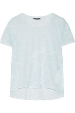 Belstaff | Belstaff Woman Alisma Tie-dye Slub Cotton T-shirt Sky Blue Size M | Clouty