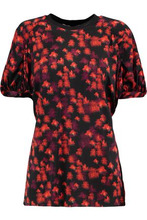 GIVENCHY | Givenchy Woman Printed Stretch-jersey Top Red Size 36 | Clouty