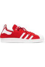 adidas Originals | Adidas Originals Woman Superstar Two-tone Knitted Sneakers Red Size 9.5 | Clouty