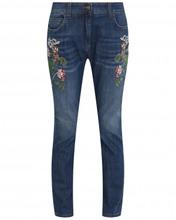 Etro | Укороченные джинсы с цветочным узором | Clouty