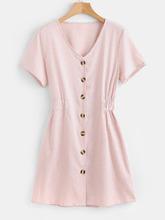 Zaful   Button Down Mini Dress   Clouty