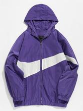 Zaful | Contrast Casual Zipper Lightweight Jacket | Clouty