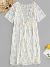 Zaful | Lace Kimono Cover Up | Clouty