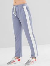 Zaful   ZAFUL Color Block Drawstring Pants   Clouty
