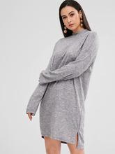 Zaful   Side Slit High Low Dress   Clouty
