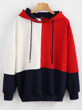 Zaful | ZAFUL Color Block Loose Hoodie | Clouty