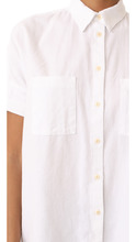 Madewell | Madewell White Cotton Courier Shirt | Clouty