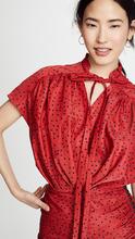 Magda Butrym | Magda Butrym Reno Tie Neck Mini Dress | Clouty