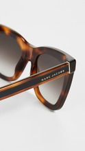 Marc Jacobs   Marc Jacobs Square Havana Frame Sunglasses   Clouty