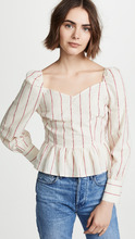 Moon River | Moon River Striped Peplum Top | Clouty