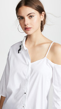 Anouki | Anouki Asymmetric Shirt with Cutout Shoulder | Clouty