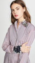 Anouki | Anouki Check Loose Tie Waist Shirt with Silver Cuffs | Clouty