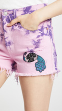 Anna Sui | Anna Sui Levi's x Anna Sui Tie Dye Peacock Patch Shorts | Clouty