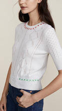 CARVEN   Carven 3/4 Sleeve Sweater   Clouty