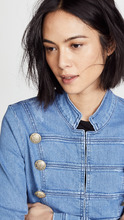 Free People | Free People Fitted Military Denim Jacket | Clouty