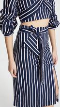 J.O.A. | J.O.A. Navy Stripe Skirt | Clouty