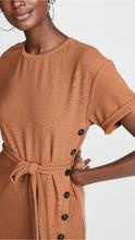 J.O.A. | J.O.A. Tie Front Short Sleeve Dress | Clouty