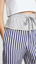 T by Alexander Wang | T by Alexander Wang Terry Stripe Combo Pull On Pants | Clouty