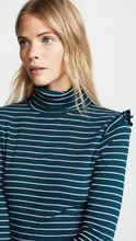 Three Dots | Three Dots Long Sleeve Turtleneck with Ruffle Shoulder | Clouty